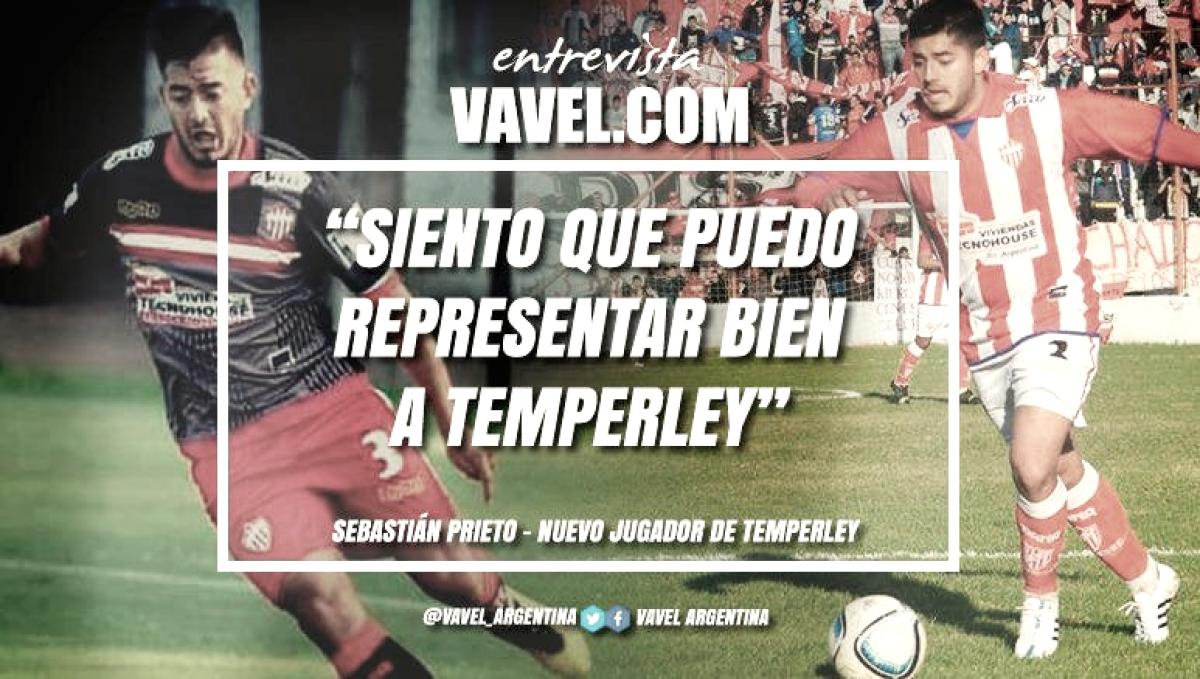"""Entrevista. Sebastián Prieto: """"Se va a tratar de hacer lo mejor para que Temperley vuelva rápido a Primera"""""""