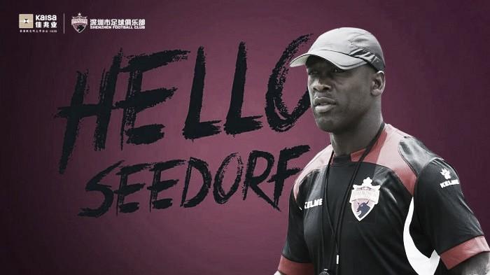 Seedorf é anunciado como novo treinador do Shenzhen FC, time da segunda divisão chinesa