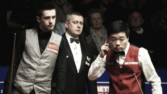 Mark Selby holds a 10-7 lead midway through a thrilling World Championship final