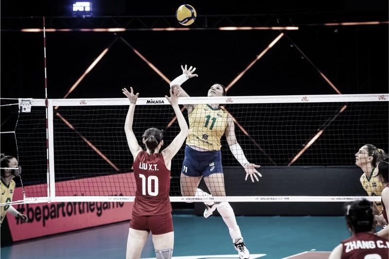 Brasil é derrotado para a China no tie-break e perde sequência de vitórias