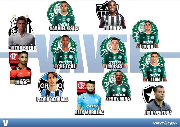 Palmeiras domina a Seleção VAVEL do Brasileirão Série A 2016
