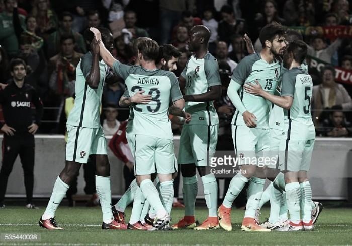 Inglaterra x Portugal : o teste intermédio