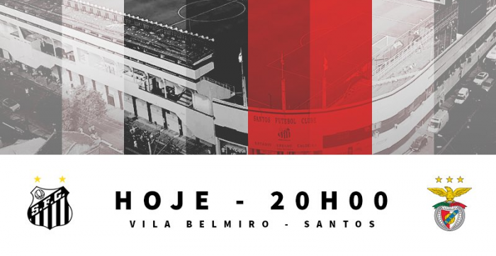 Jogo Santos x Benfica no Centenário da Vila Belmiro