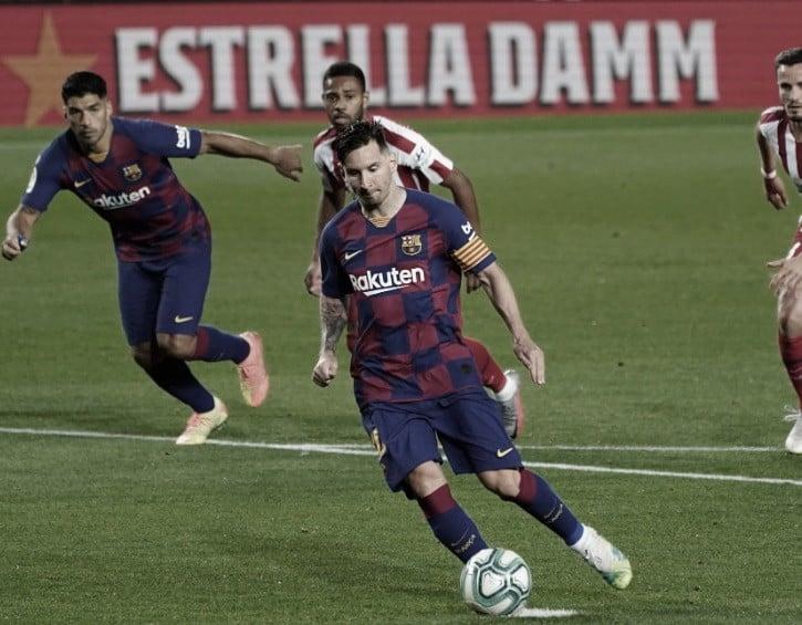 Gol 700 de Messi, pênaltis e polêmica: Barcelona e Atlético de Madrid empatam em jogo emocionante