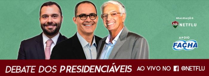 TEMPO REAL: Debate NETFLU entre os candidatos à presidência do Fluminense