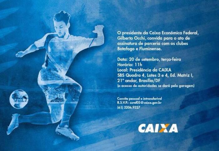 Caixa Econômica Federal será a nova patrocinadora master de Fluminense e Botafogo