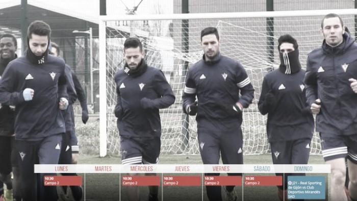 El Mirandés regresa mañana al trabajo pensando en el Sporting B