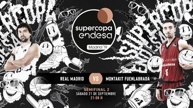 Real Madrid vs Montakit Fuenlabrada en vivo y en directo semifinal Supercopa 2019