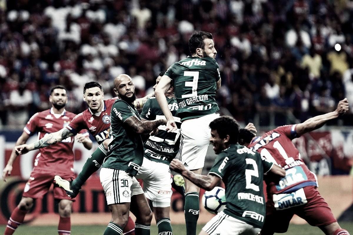 Em jogo marcado pelo uso do VAR, Bahia e Palmeiras empatam sem gols na Copa do Brasil