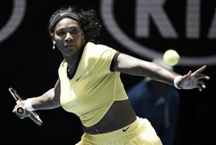 Serena coge carrerilla
