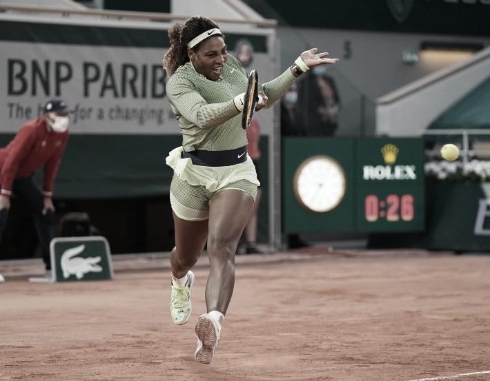 Serena Williams, con el pie derecho