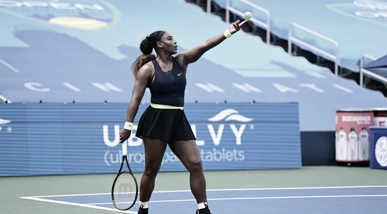 Com drama: Serena se recupera no fim e estreia com vitória sobre Rus em Cincinnati