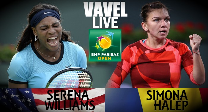 Score Serena Williams - Simona Halep Of The 2016 BNP Paribas Open Quarterfinal (2-0)