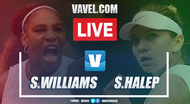 Serena Williams x Simona Halep AO VIVO online pela Final de Wimbledon (0-2)