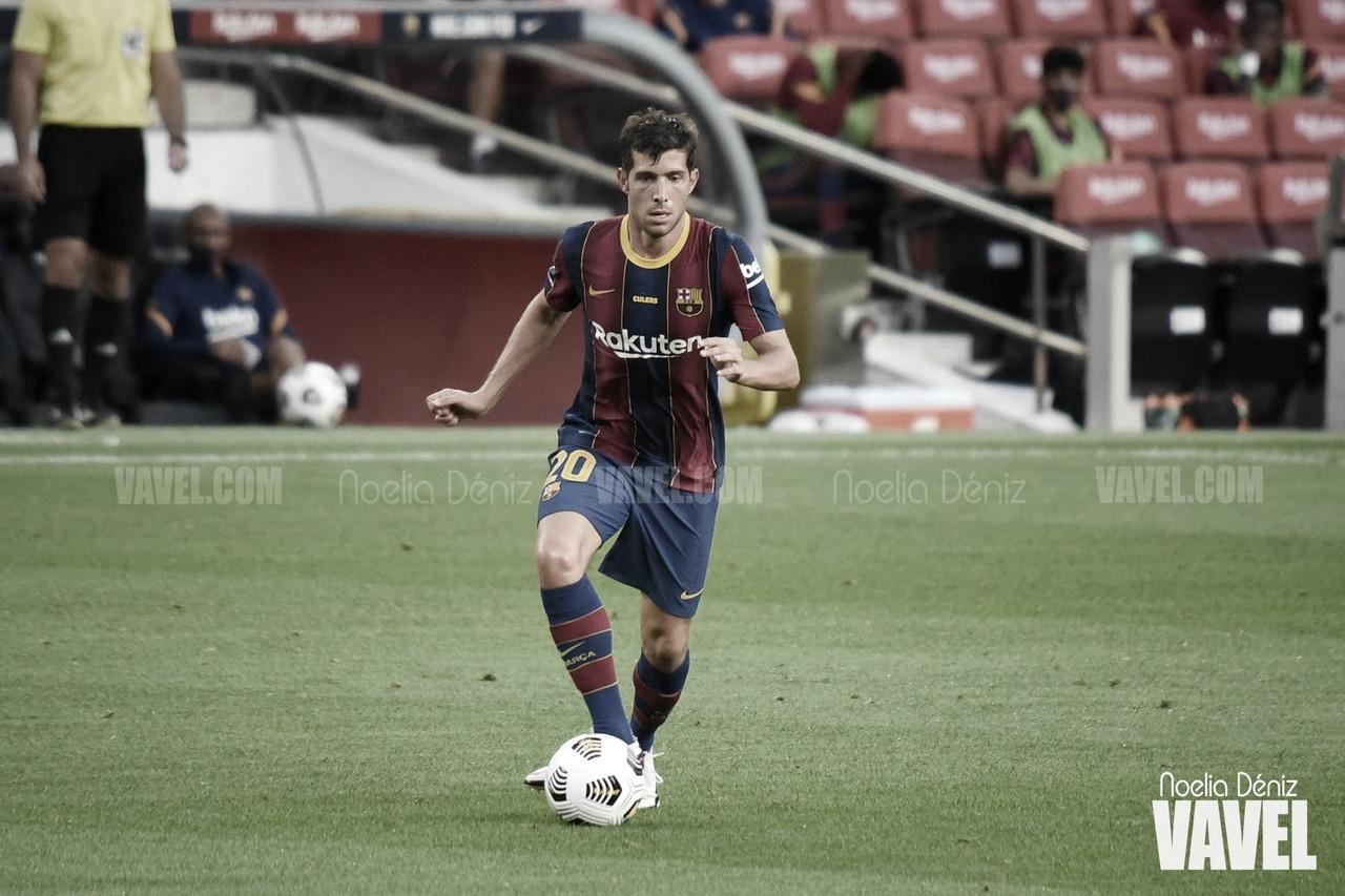 """Sergi Roberto: """"Es un orgullo cumplir 300 partidos con el club de mi vida"""""""