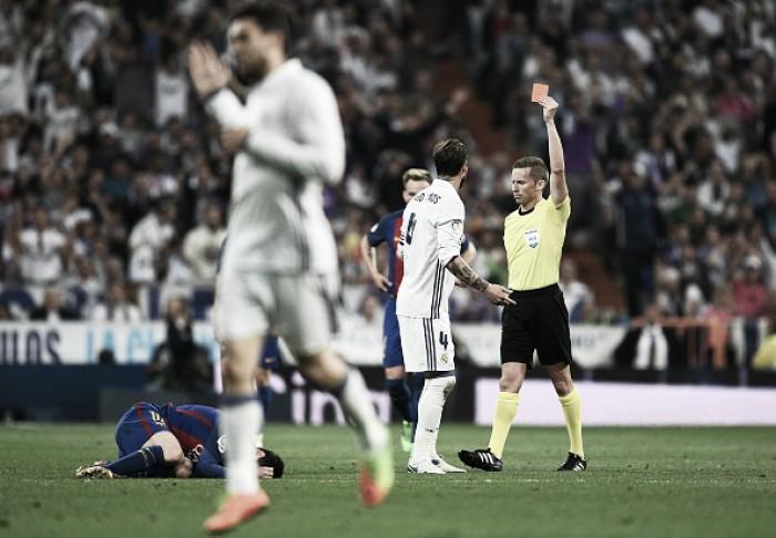 Justo? Nos últimos cinco 'El Clásico', Real Madrid terminou com dez jogadores em três