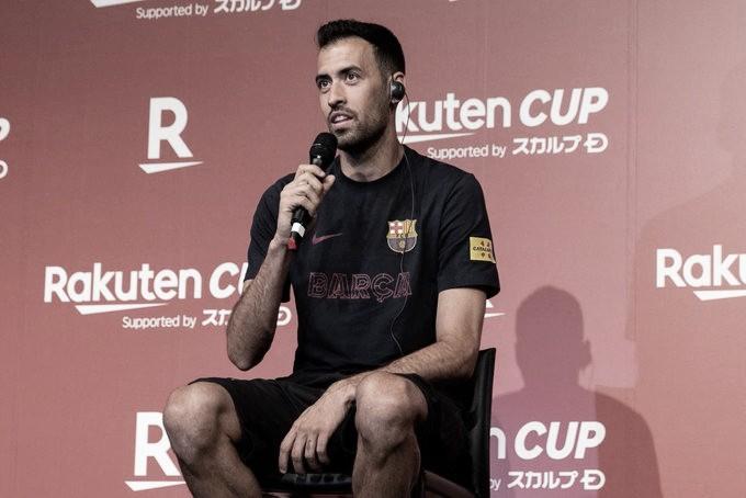 """Sergio Busquets: """"Con Messi nuestras opciones de ganar se acentúan"""""""