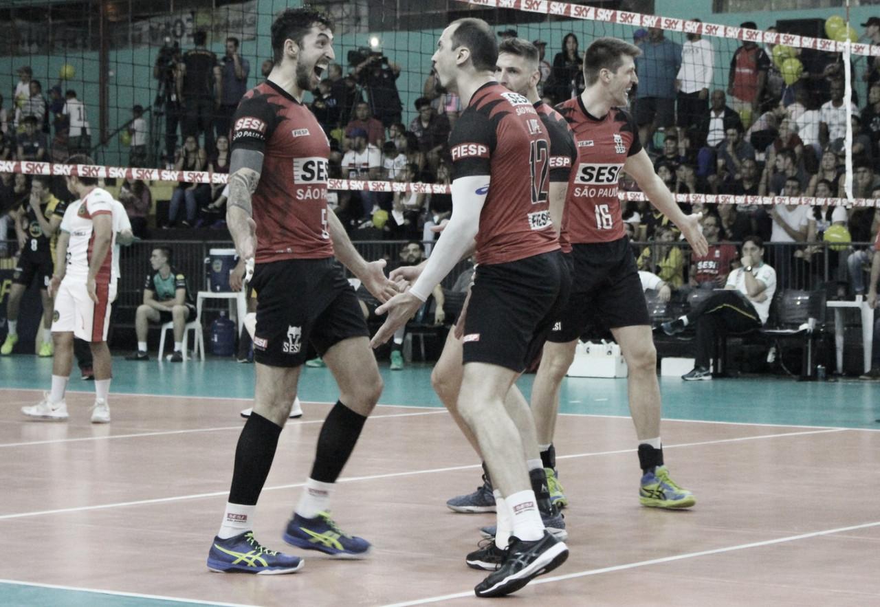 Sesi-SP derrotaVôleiItapetininga fora de casa e vai às semifinais da Superliga Masculina