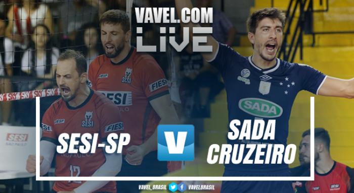 Resultado Sesi-SP x Sada Cruzeiro pela decisão da Copa Brasil Masculina de Vôlei (2-3)