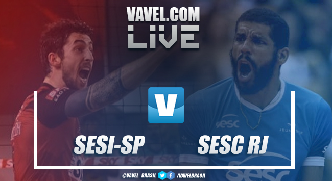 Resultado Sesi-SP 3-0 Sesc-RJ pela semifinal da Superliga Masculina