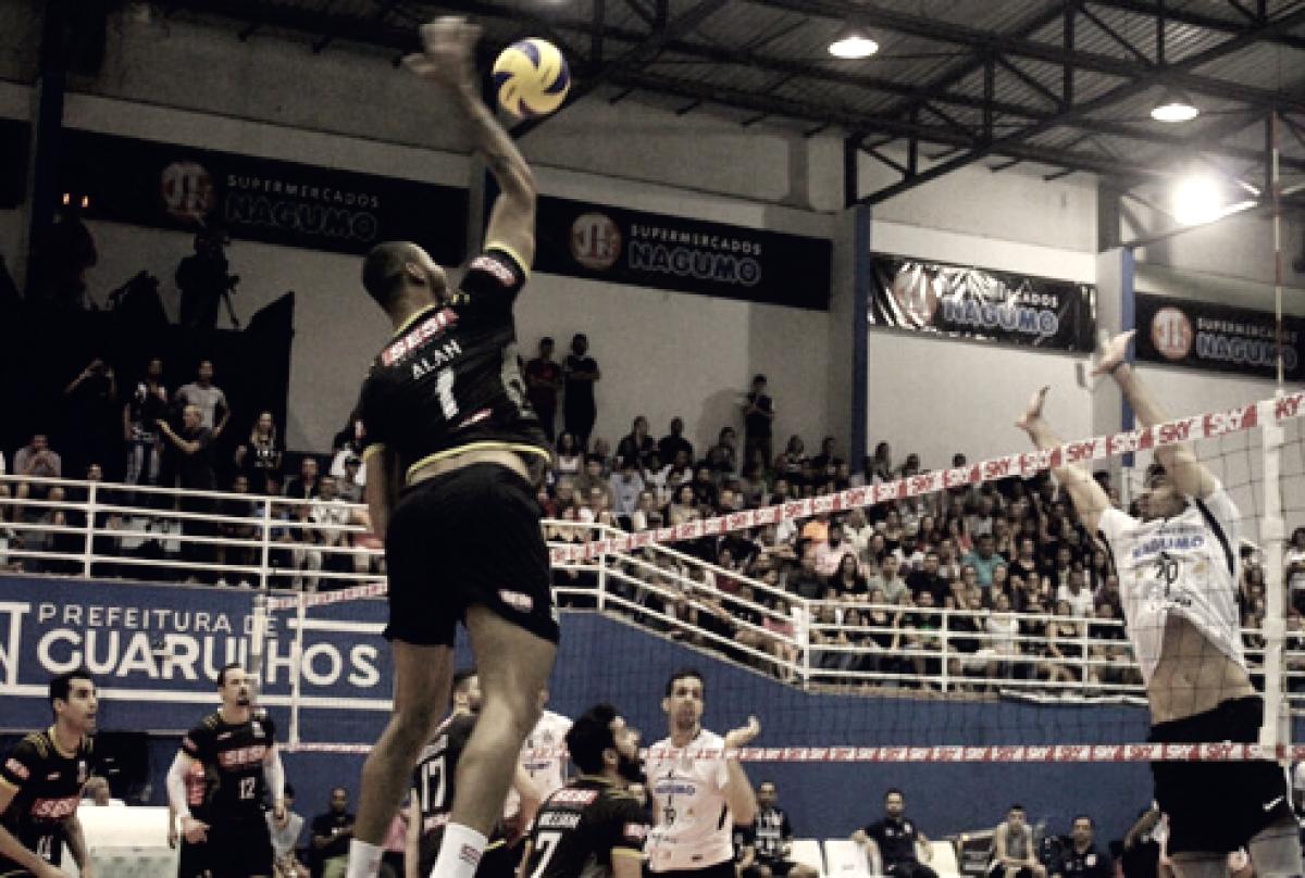 Corinthians mira revanche contra Sesi-SP no primeiro duelo das quartas da Superliga Masculina