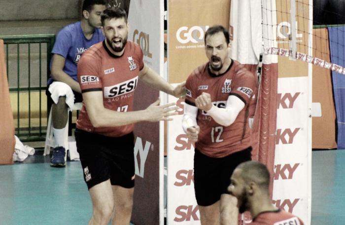 Sesi-SP bate Campinas fora de casa e assume provisoriamente a vice-liderança da Superliga