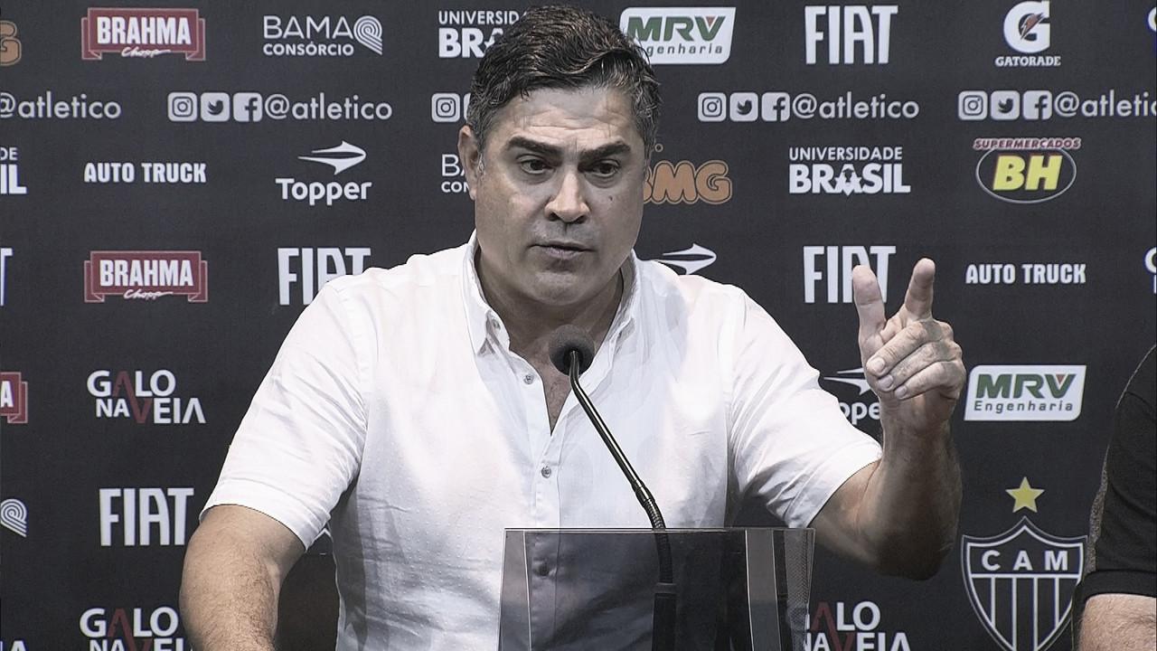 Presidente do Atlético-MG faz duras críticas à FMF e ao diretor de futebol do Cruzeiro