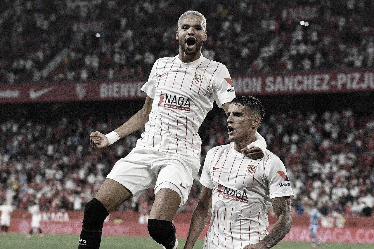 """""""Sonhei com esse momento"""", diz Lamela após marcar dois gols na estreia pelo Sevilla"""