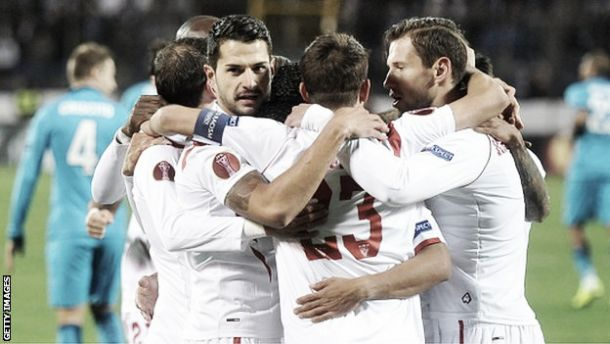 Zenit 2-2 Sevilla: Kevin Gameiro's late goal sends Sevilla to Europa League semi-finals