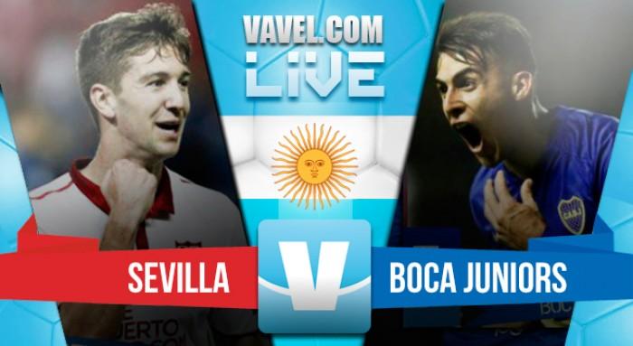 Resumen y goles del partido Boca Juniors 4-3 Sevilla en Trofeo Antonio Puerta 2016