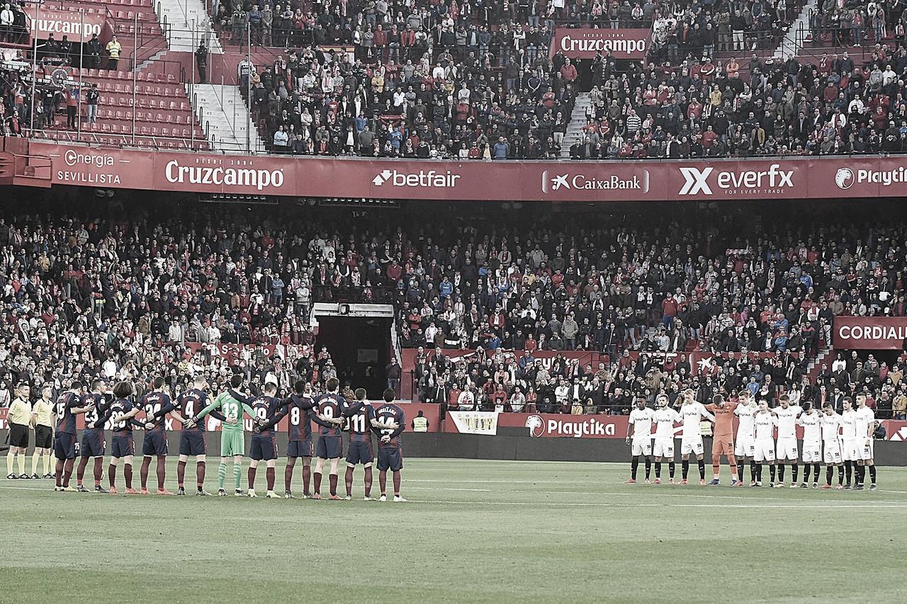 Eibar y Sevilla instantes antes de un encuentro entre ambos FUENTE: VAVEL