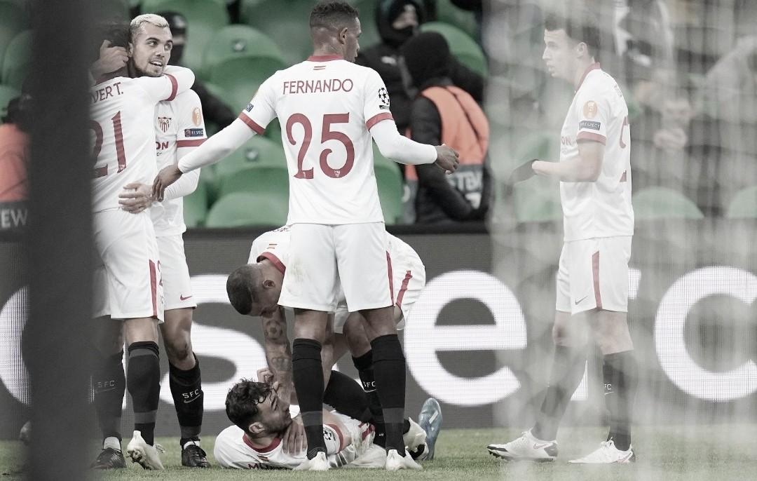 El Sevilla sella su billete a octavos (1-2)