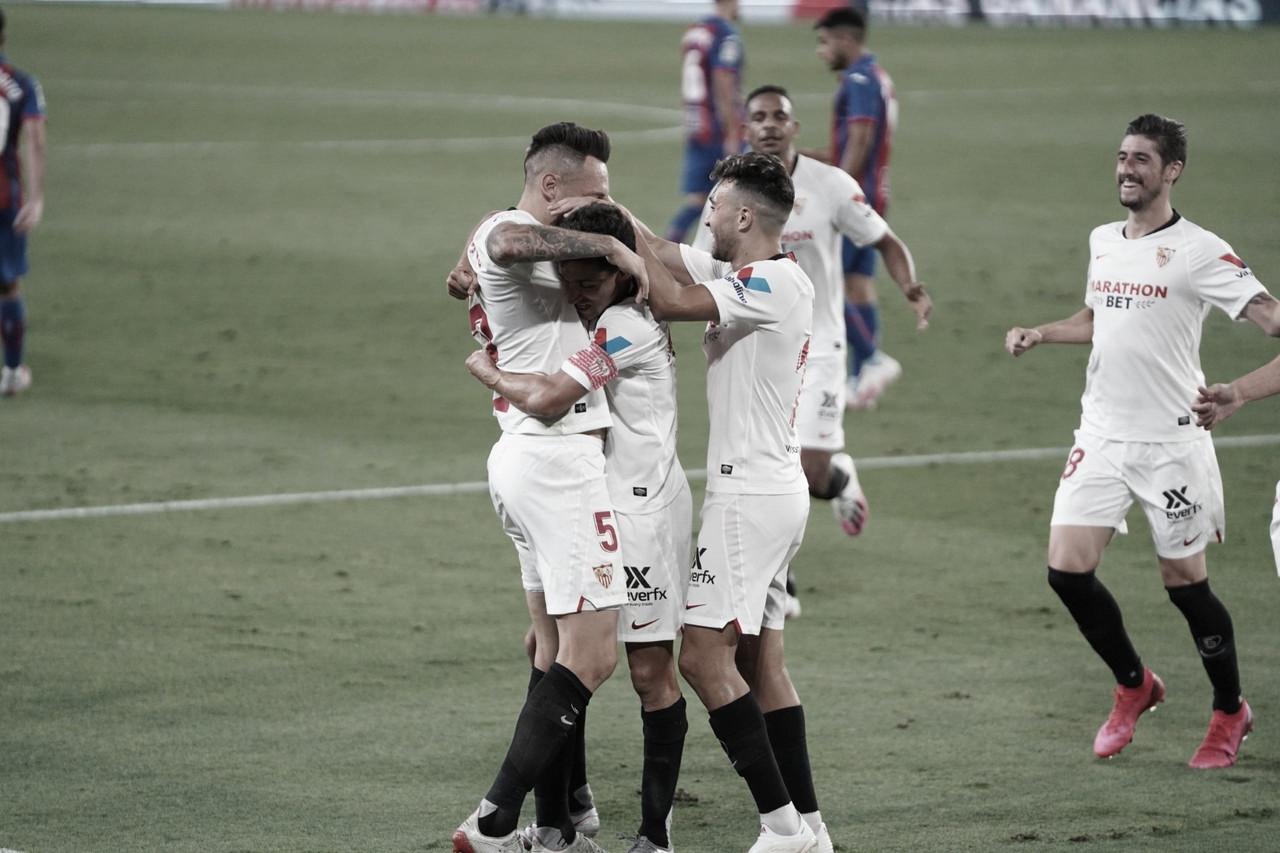 Com meia Ocampos de goleiro nos minutos finais, Sevilla consegue vitória dura contra Eibar