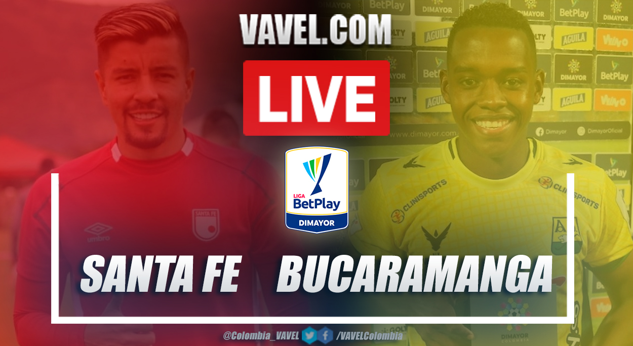 Resumen Santa Fe vs Bucaramanga (2-0) en la fecha 6 por Liga BetPlay 2021-I