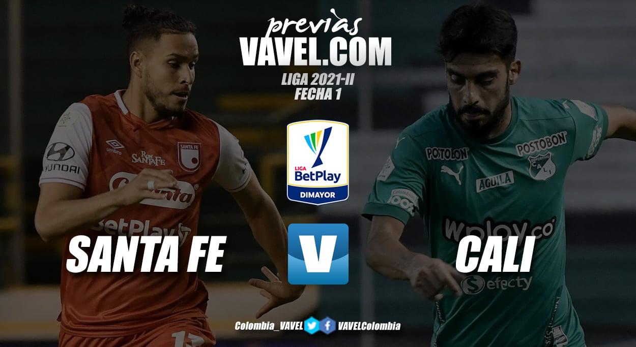 Previa Santa Fe vs Deportivo Cali: por la victoria en el debut