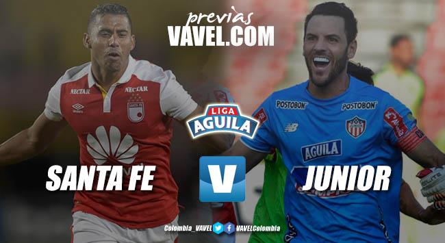 Previa Independiente Santa Fe vs Junior de Barranquilla: El 'cardenal' quiere frenar al 'tiburón' hambriento