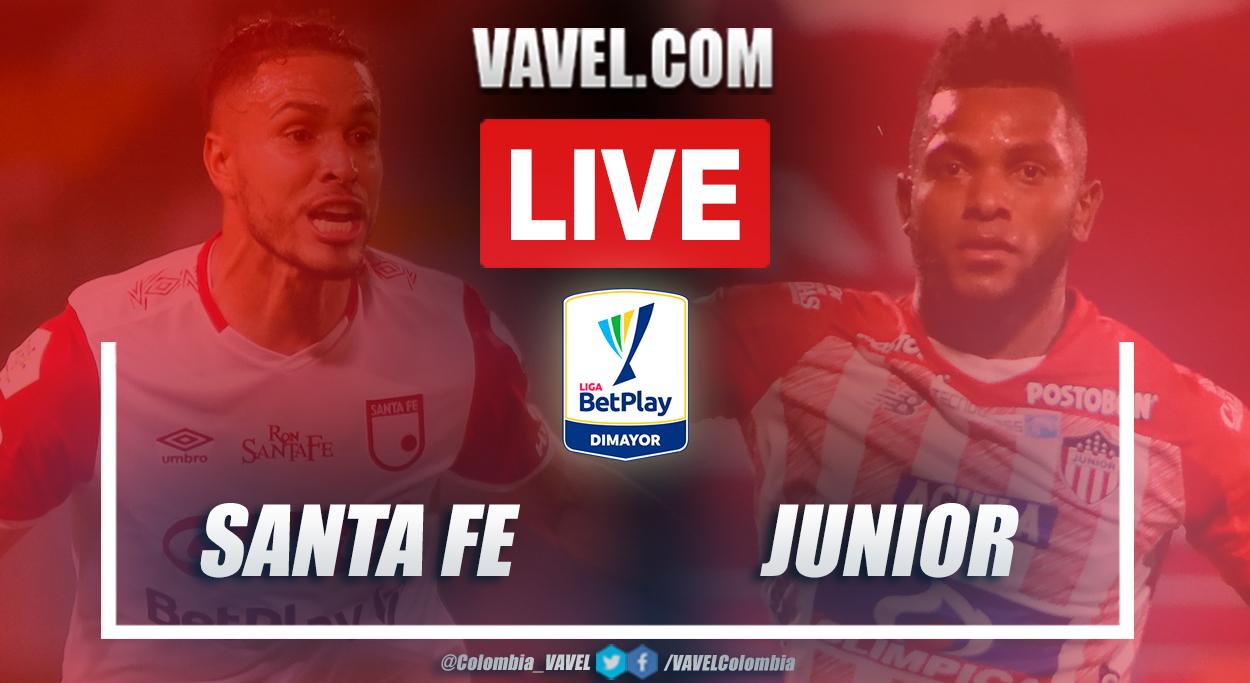 Resumen Santa Fe vs Junior (0-0) en los cuartos de final (vuelta) por Liga BetPlay 2021-I