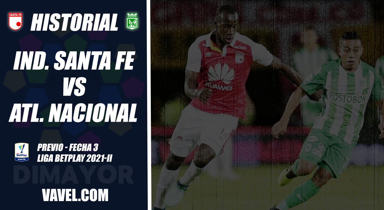 Historial Santa Fe vs Atlético Nacional: duelo con tendencia 'verdolaga'