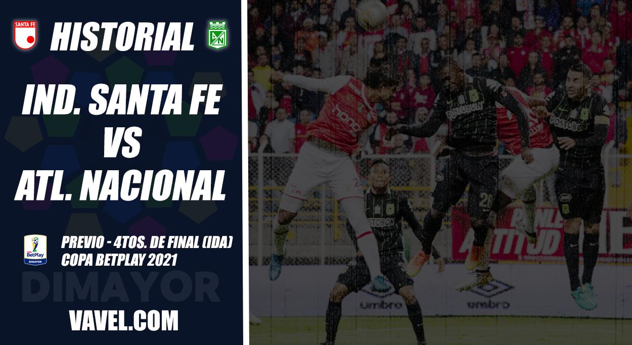 Historial Independiente Santa Fe vs Atlético Nacional: igualdad en la capital por Copa Colombia