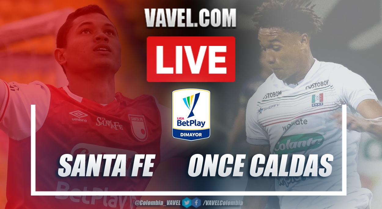 Resumen Santa Fe vs Once Caldas (2-0) en la fecha 16 por Liga BetPlay 2021-I