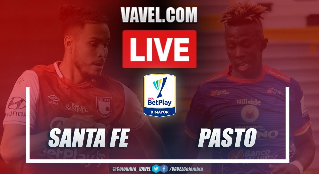 Resumen Santa Fe vs Deportivo Pasto (2-2) en la fecha 11 por Liga BetPlay 2021-I