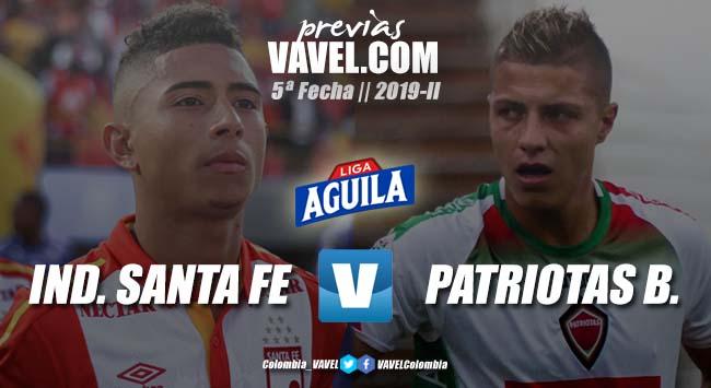 Previa Independiente Santa Fe vs Patriotas: con la ilusión del renacer 'cardenal '