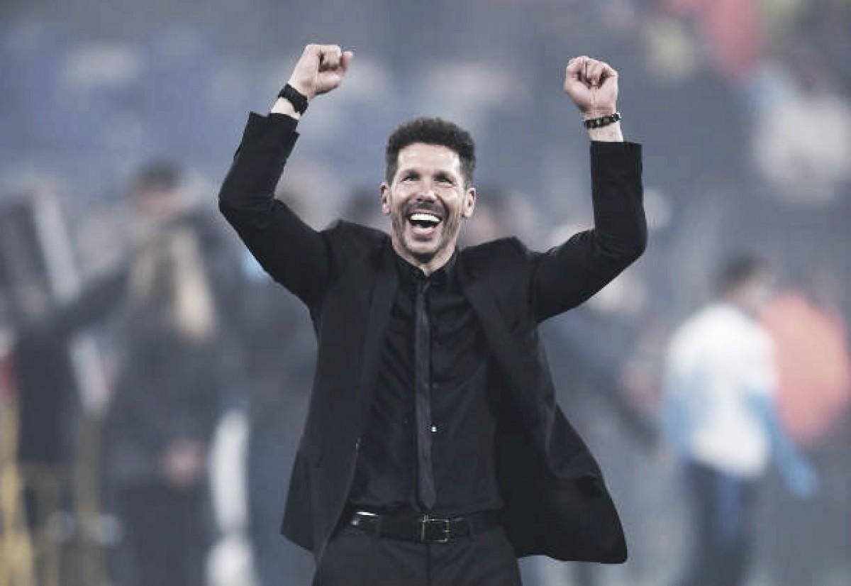 """Simeone enaltece elenco do Atlético após título: """"A melhor maneira de ganhar, é insistir"""""""