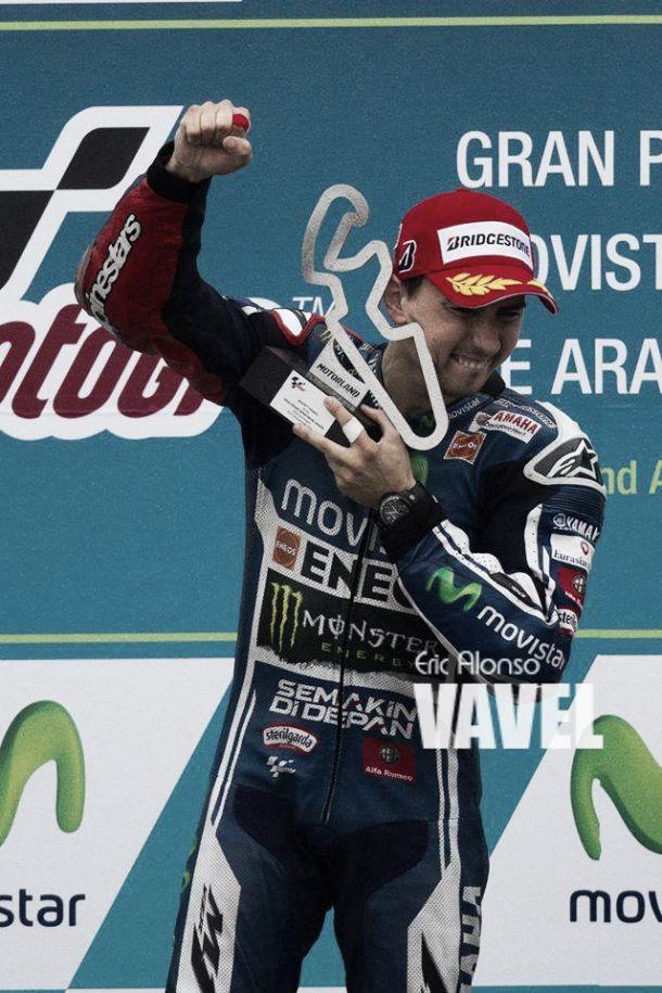 """Jorge Lorenzo: """"Si tengo que elegir hubiera preferido ganar en seco, pero así estoy contento"""""""