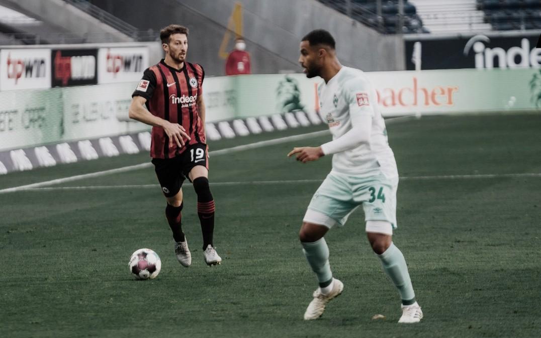 Eintracht Frankfurt empata com Werder Bremen e completa três rodadas sem vencer