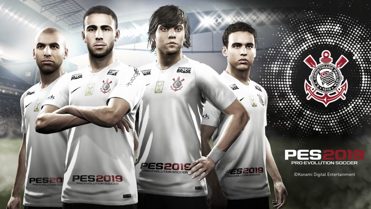 Corinthians anuncia parceria com produtora Konami para o game Pro Evolution Soccer 2019
