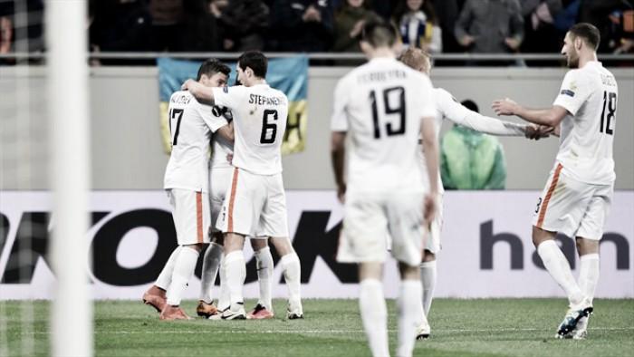 Tragédia ucraniana demoliu guerreiros do Minho: Shakhtar esmaga Braga por 4-0