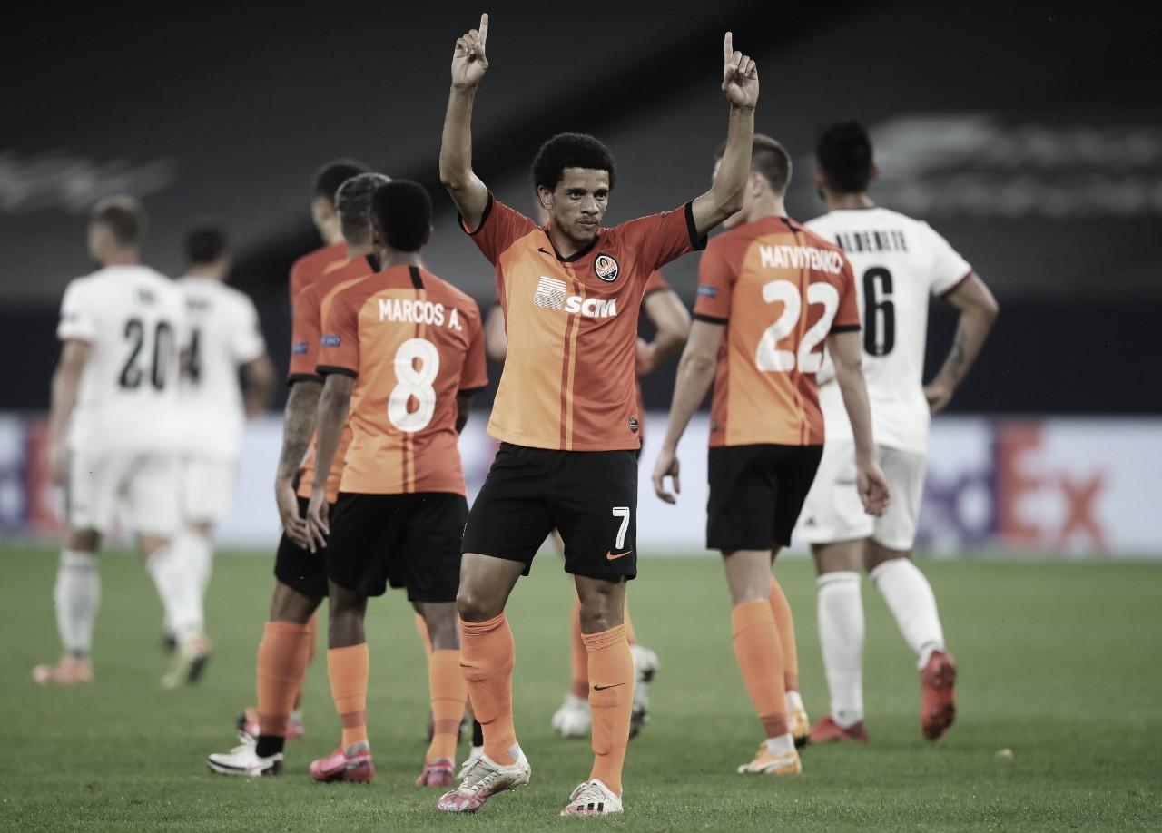Com show brasileiro, Shakhtar atropela Basel e está na semifinal da Liga Europa