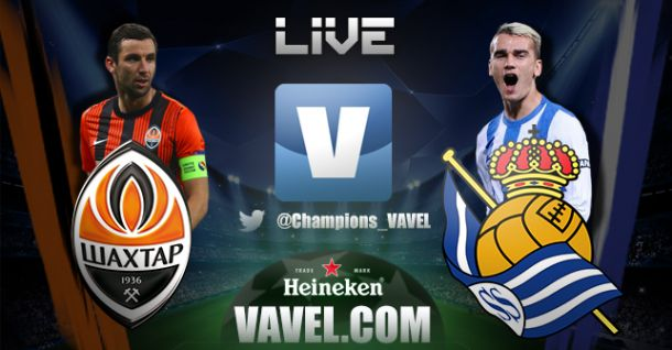 Live Shakthar - Real Sociedad in Champions League