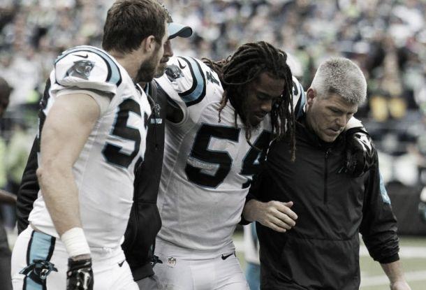 Com leve torção no joelho, Linebacker Shaq Thompson desfalca Panthers contra Eagles